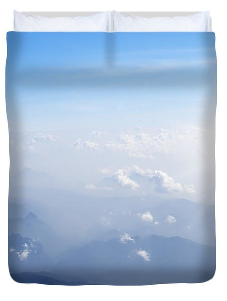 Mountain With Blue Sky And Clouds Duvet Cover by Setsiri Silapasuwanchai