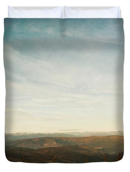 Mountains As Far As The Eye Can See Duvet Cover by Priska Wettstein