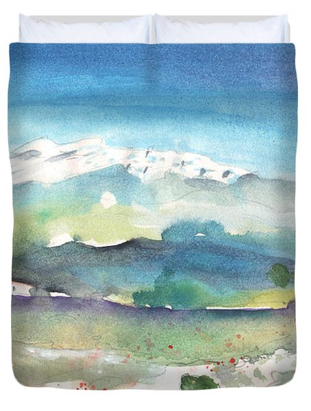 Mountains By Agia Galini Duvet Cover by Miki De Goodaboom