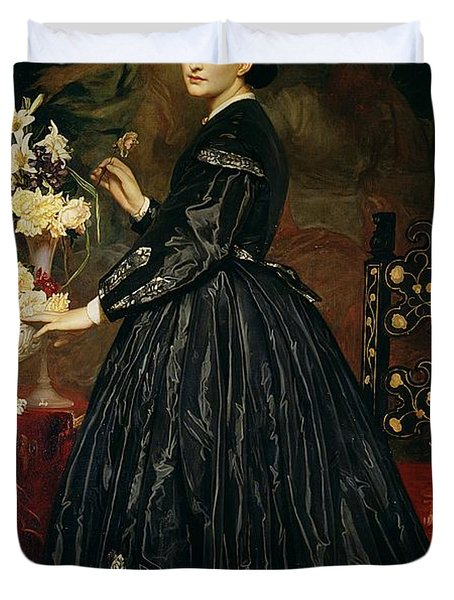 Mrs James Guthrie Duvet Cover by Frederic Leighton