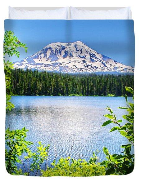 Mt Adams And Takhlakh Lake Duvet Cover