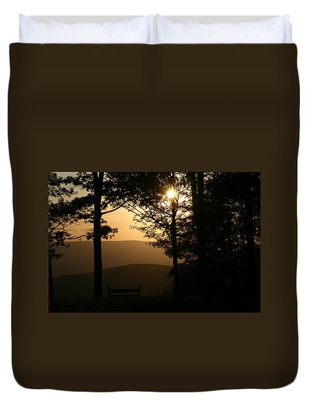 Mt Pisqah Sunset Duvet Cover