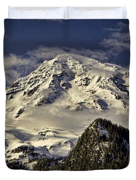 Mt Rainier Duvet Cover by Heather Applegate