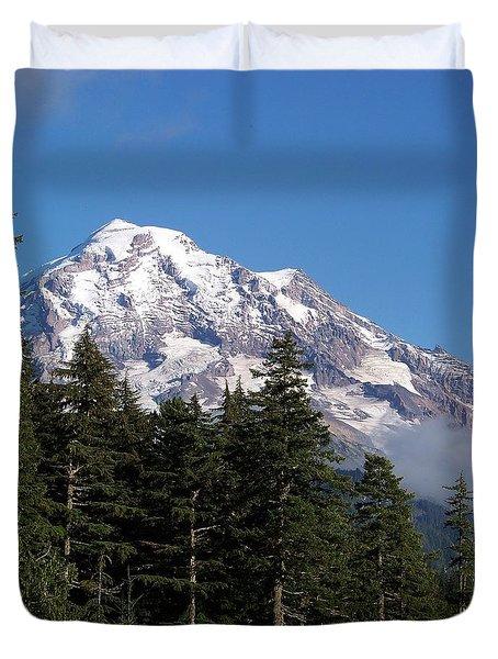 Mt. Rainier North Side Duvet Cover
