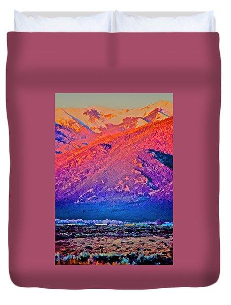 Mt Wheeler At Sunset Duvet Cover
