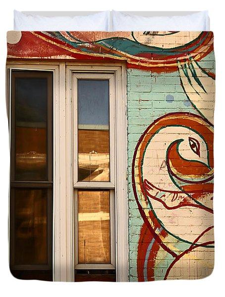 Mu Wall Duvet Cover by Aimelle