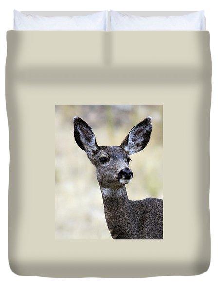 Mule Deer Doe Duvet Cover by Steve McKinzie