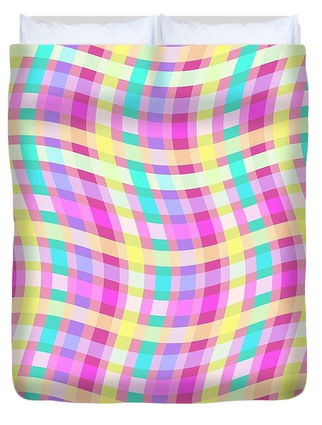 Multi Check Duvet Cover by Louisa Knight