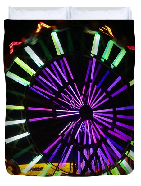 Multi Colored Ferris Wheel Duvet Cover by Kym Backland