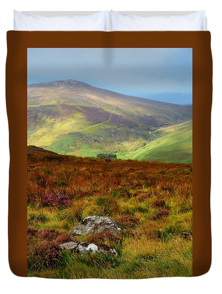 Multicolored Hills Of Wicklow. Ireland Duvet Cover by Jenny Rainbow