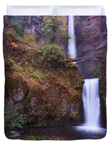 Multnomah Falls Duvet Cover