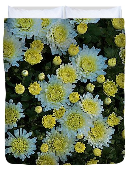 Duvet Cover featuring the photograph Mums by Joseph Yarbrough