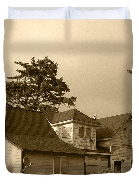 Munsters Or Adams Family Duvet Cover by Kym Backland