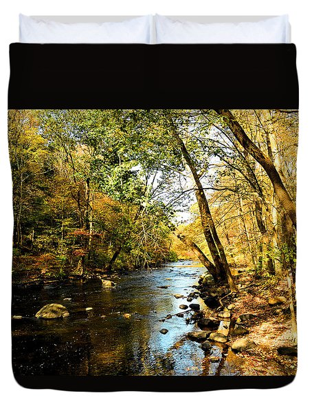 Musconetcong River Duvet Cover by Brian Hughes