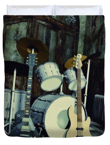 Music Is Everywhere Duvet Cover by Jutta Maria Pusl