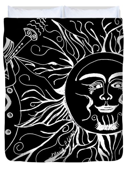 Musical Sunrise - Inverted Duvet Cover by Maria Urso