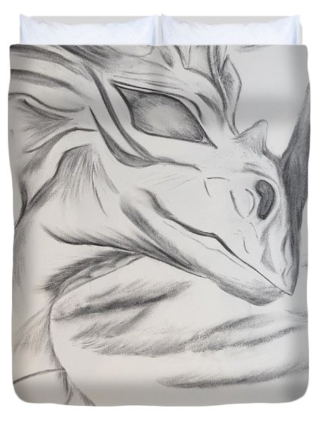 My Dragon Duvet Cover by Maria Urso