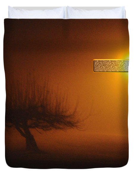 My Life In God's Hands Duvet Cover by Clayton Bruster