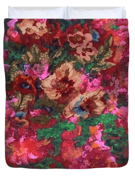 Duvet Cover featuring the painting My Sister's Garden I by Alys Caviness-Gober