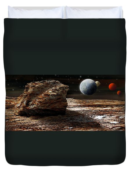 My View From Mars 2 Duvet Cover by Kaye Menner