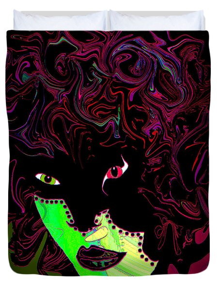 Mysterious Masquerade Duvet Cover by Natalie Holland