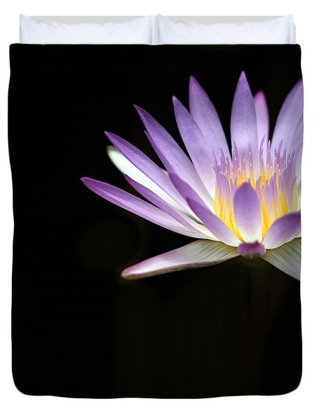 Mysterious Water Lily Duvet Cover by Sabrina L Ryan