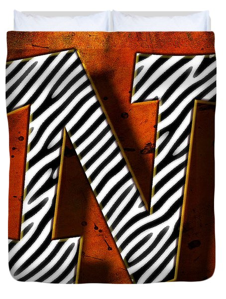 N Duvet Cover by Mauro Celotti