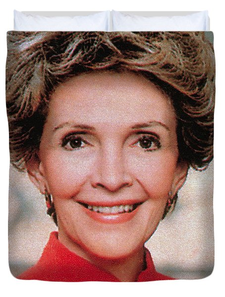 Nancy Reagan, 40th First Lady Duvet Cover by Photo Researchers
