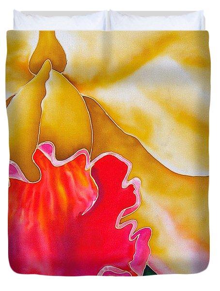 Nancy Smith Orchid Duvet Cover by Daniel Jean-Baptiste