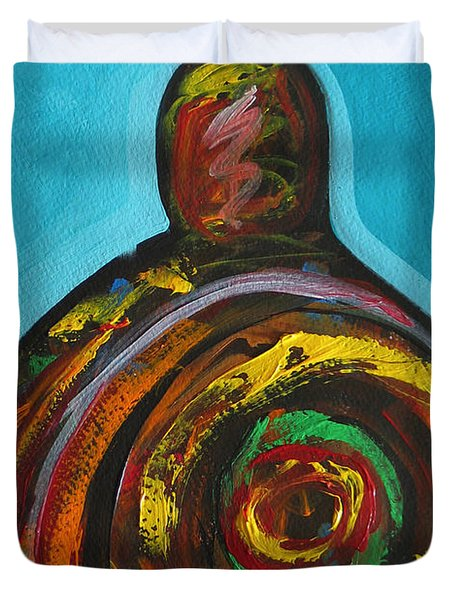 Native Abstract Duvet Cover by Lance Headlee