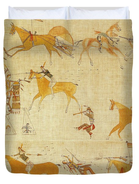 Native American Art Duvet Cover by Photo Researchers