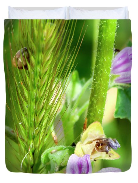 Duvet Cover featuring the photograph Natural Bouquet by Pedro Cardona