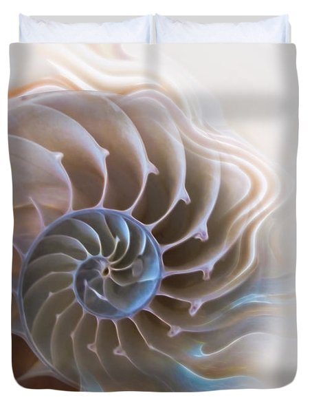 Natural Spiral Duvet Cover