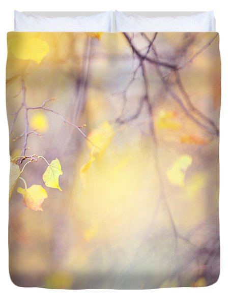 Natural Watercolor Of Autumn Duvet Cover by Jenny Rainbow