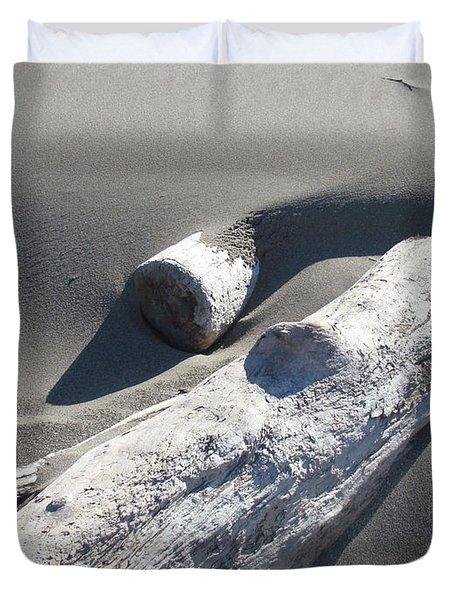 Nature Coastal Art Prints Driftwood Sand Dunes Duvet Cover by Baslee Troutman