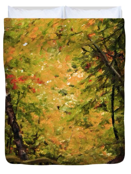 Duvet Cover featuring the photograph Nature In Oil  by Deniece Platt