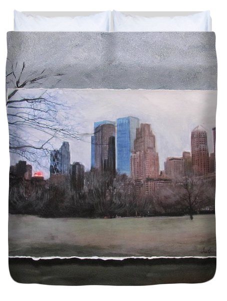 Ncy Central Park Layered Duvet Cover by Anita Burgermeister