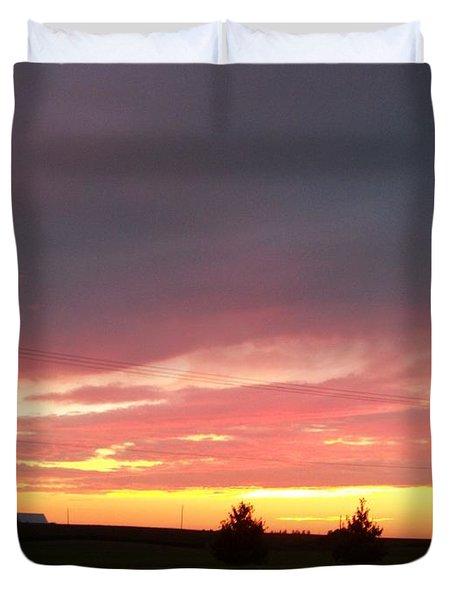 Nebraska Sunset Duvet Cover