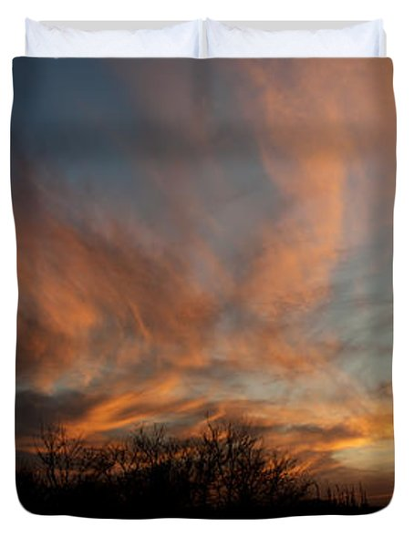 Nebraska Sunset Duvet Cover
