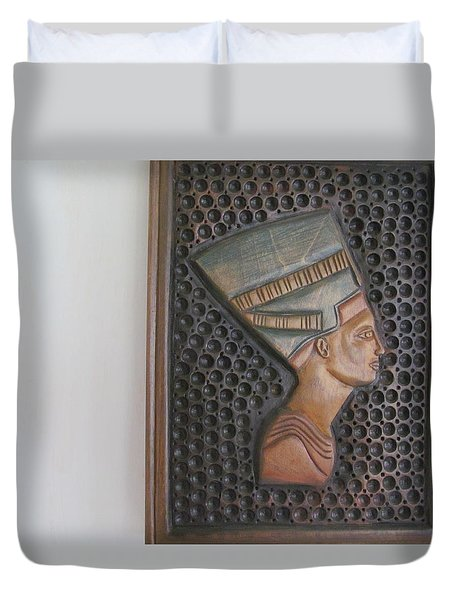 Duvet Cover featuring the photograph Nefertiti As Is by Tina M Wenger