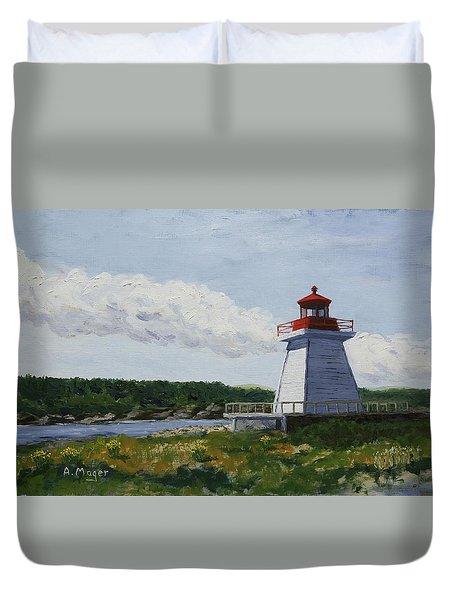 Neil's Harbor Light Duvet Cover