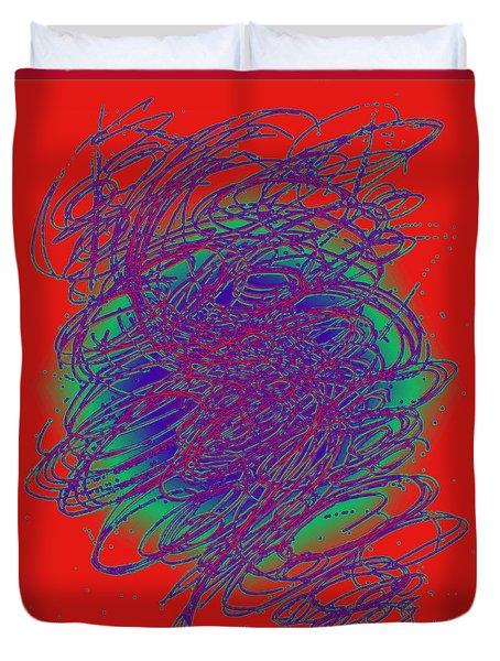 Neon Poster. Duvet Cover