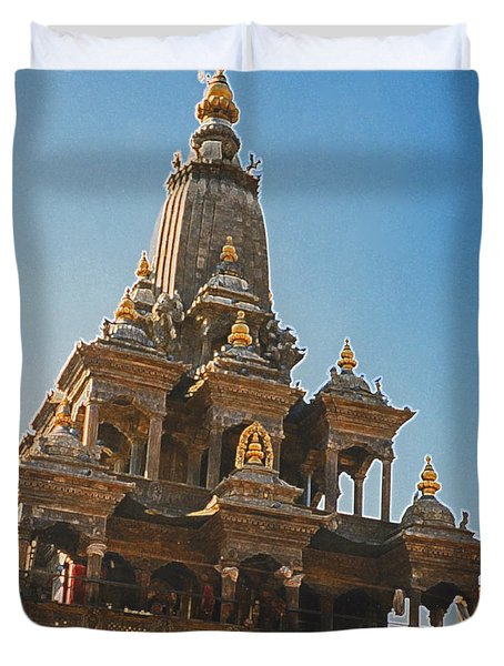 Nepal Temple 2 Duvet Cover by First Star Art