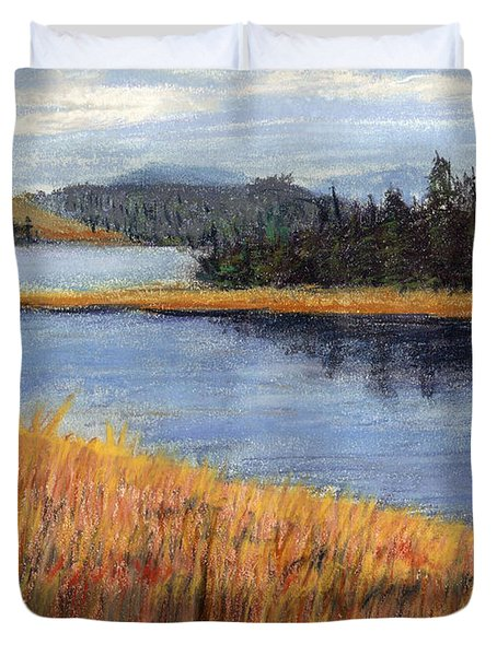 Nestucca River And Bay  Duvet Cover