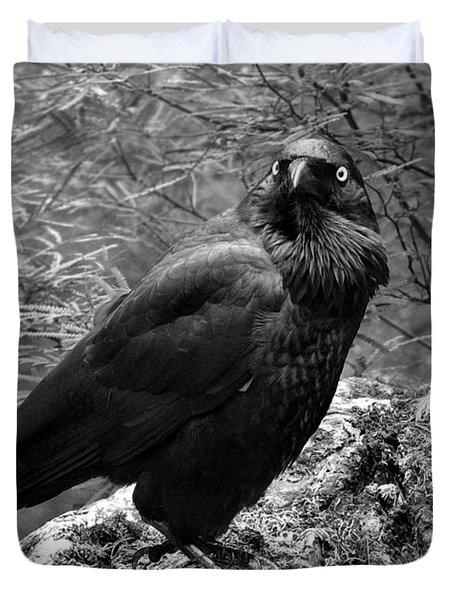 Nevermore - Black And White Duvet Cover