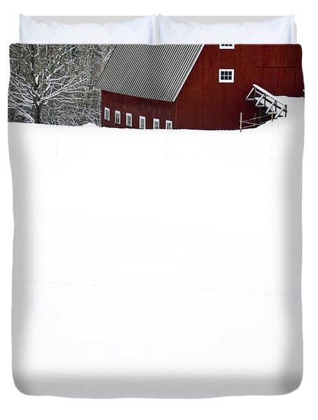 New England Winter Duvet Cover by Edward Fielding