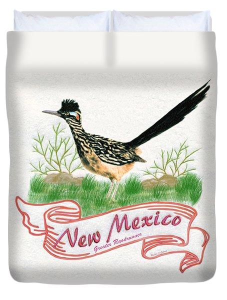 New Mexico State Bird The Greater Roadrunner Duvet Cover