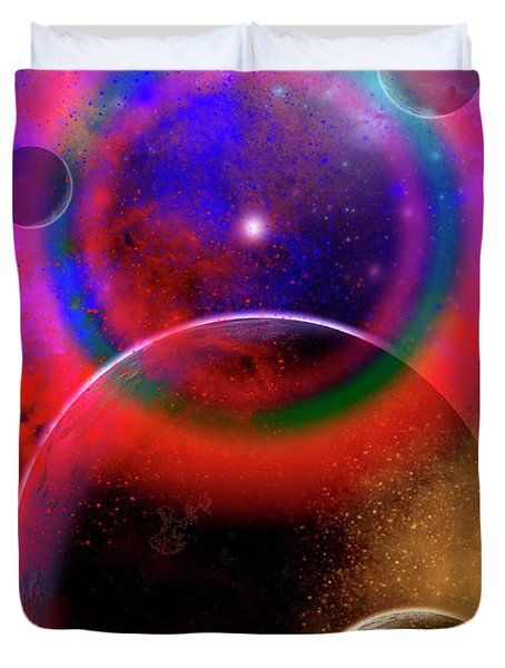 New Planets And Solar Systems Forming Duvet Cover by Mark Stevenson