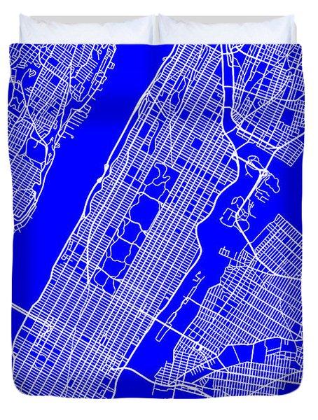 New York City Map Streets Art Print   Duvet Cover