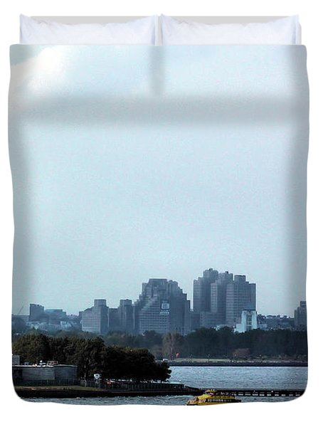 New York Harbor Duvet Cover by Kristin Elmquist